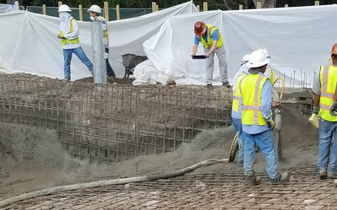 Pool Construction Workers' Coordination